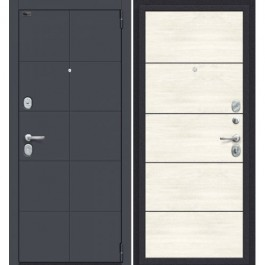 Дверь входная металлическая Эльпорта PORTA S10.П.50 (AB-6) (Graphite Pro/Nordic Oak)
