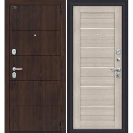 Дверь входная металлическая Эльпорта PORTA S4.П22 (Almon 28/Cappuccino Veralinga)
