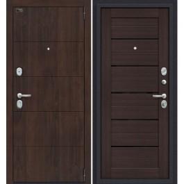 Дверь входная металлическая Эльпорта PORTA S4.П22 (Almon 28/Wenge Veralinga)