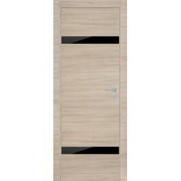 Межкомнатная дверь Профиль Дорс черное стекло 3z