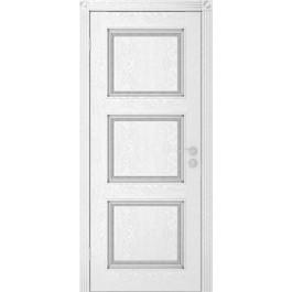 Межкомнатная дверь Юркас Квадро дг эмаль серебро