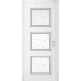 Межкомнатная дверь Юркас Квадро до эмаль серебро