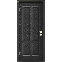 Межкомнатная дверь Юркас Плимут дг эмаль черная