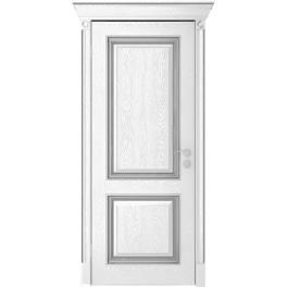 Межкомнатная дверь Юркас Валенсия дг эмаль серебро