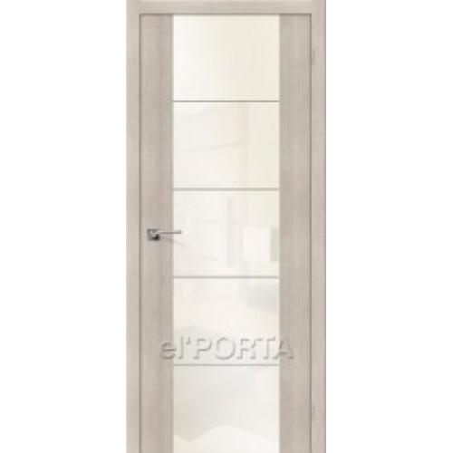 Межкомнатная дверь экошпон elPORTA V4 White Pearl